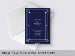 custom designed wedding invitation simple frame by blursbyai