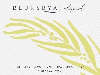 svg eucalyptus wreaths bohemian style eucalyptus silhouette clipart by blursbyai (1)