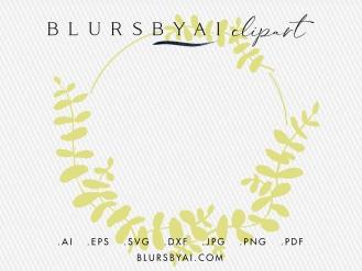 svg eucalyptus wreaths bohemian style eucalyptus silhouette clipart by blursbyai (3)