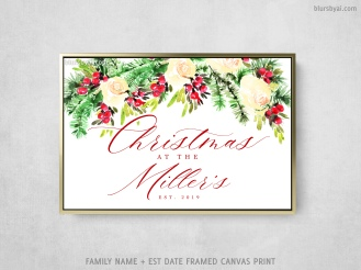 personalized christmas at home family name and est date by blursbyai (2)