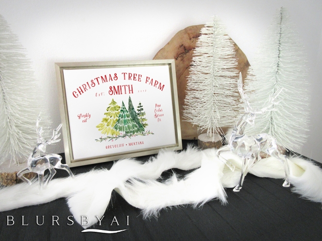 personalized custom family name christmas tree farm sign by blursbyai (4)