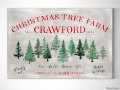 Personalized family name christmas sign christmas tree farm sign by blursbyai (1)