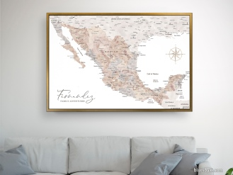 map of mexico in watercolor push pin map canvas by blursbyai (2)