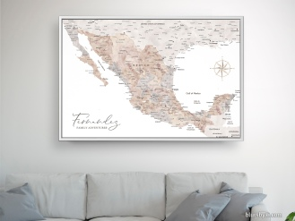 map of mexico in watercolor push pin map canvas by blursbyai (3)