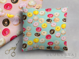 07 WATERCOLOR DONUT PATTERN BY BLURSBYAI