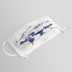 the-world-is-a-book-blue-world-map-masks